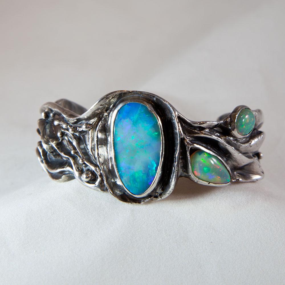 3 Opal Bracelet front view