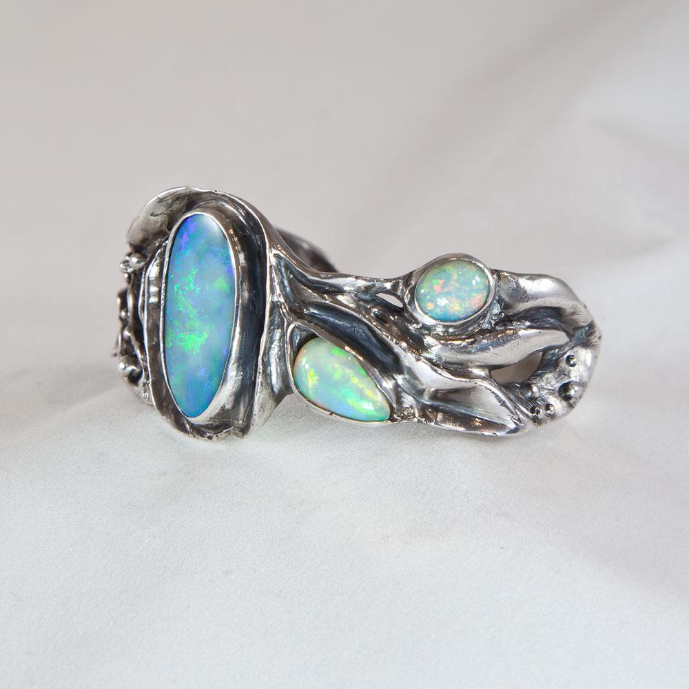 3 Opals Bracelet left side