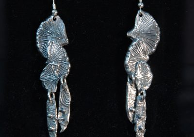 Ginko Earrings created with PMC