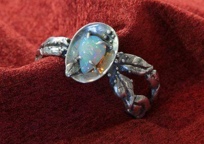 """Patty McFall """"Opal Leaf in sterling Bracelet"""""""