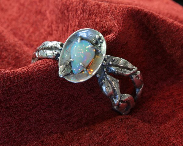 "Patty McFall ""Opal Leaf in sterling Bracelet"""