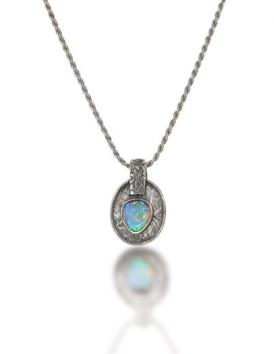 Opal and Sterling Pendant