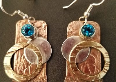 Copper, Brass and Sterling w/Topaz