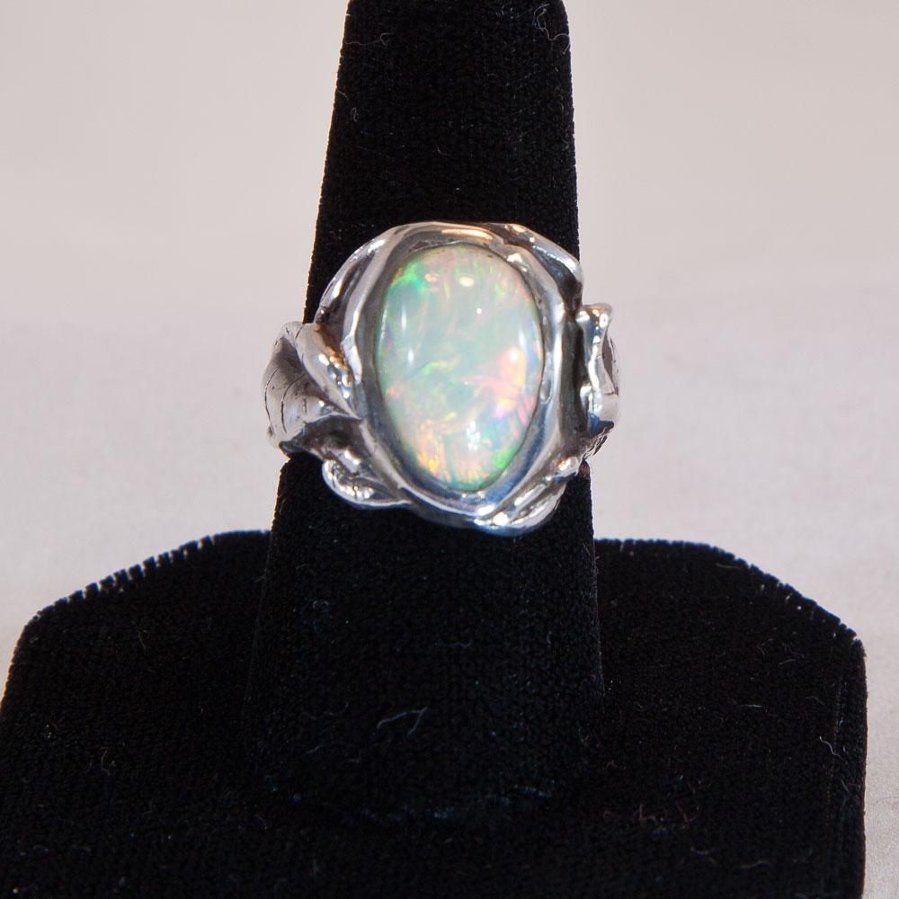 """Patty McFall """"Ethiopian Opal Leaf Ring"""""""